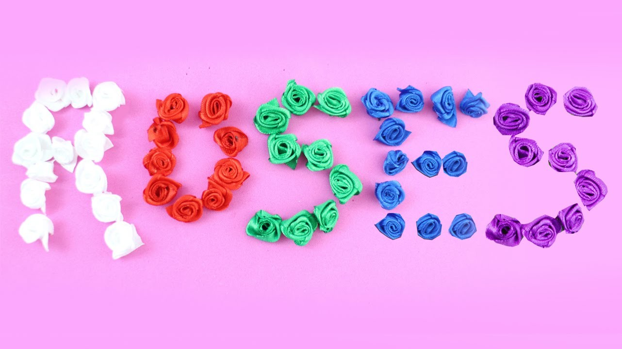 How to make SMALL ROSES with satin ribbon - Ribbon Craft - EP 873