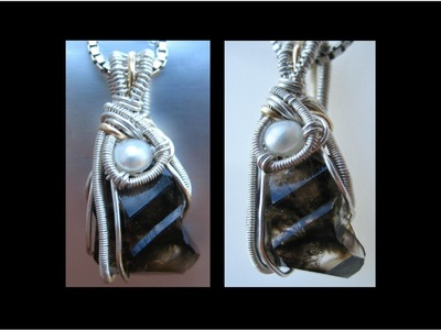How to make Wire Wrapped Pendant - Mooralla Crystal - Liz Kreate