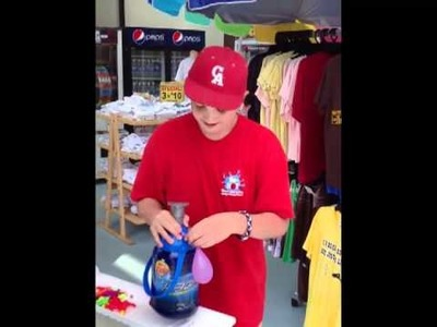 How to tie a water balloon and only touch once!!