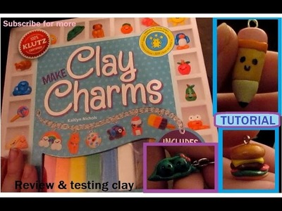 Make Clay Charms Book by KLUTZ (review & tutorial)
