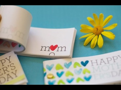Mother's Day Craft: Flip Book Card