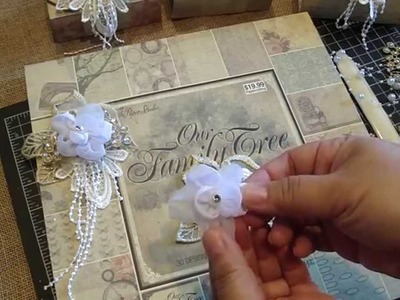 Msgardengrove1: Handmade Shabby Lace Flowers and Origami Box.Tutorial