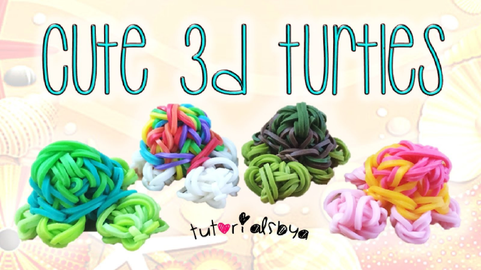 NEW 3D Turtle MONSTER TAIL Rainbow Loom Charm Tutorial | How To