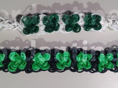 New Four Leaf Clover Bracelet - St. Patrick's Day Shamrock - Rainbow Loom, Crazy Loom