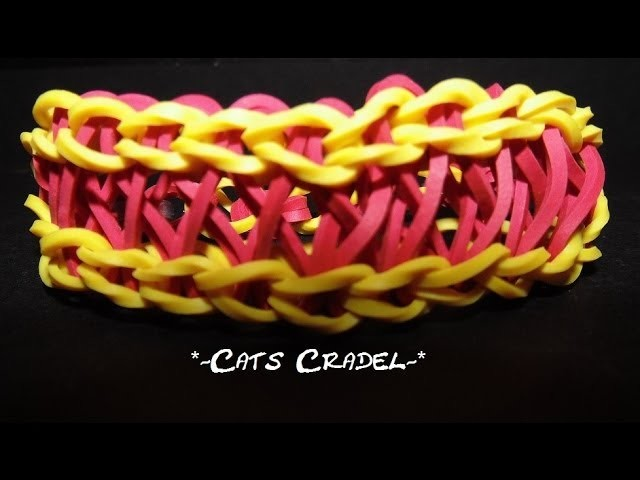 """*NEW* How to make a """"Cats Cradle"""" bracelet on the Wonder Loom"""