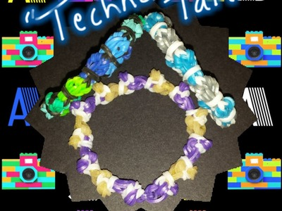 "New ""Techno Tail"" Rainbow Loom Bracelet.How To Tutorial"