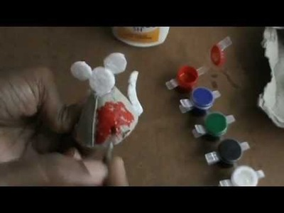 NIKSHIPTAM;.How to make MICKY MOUSE with waste material