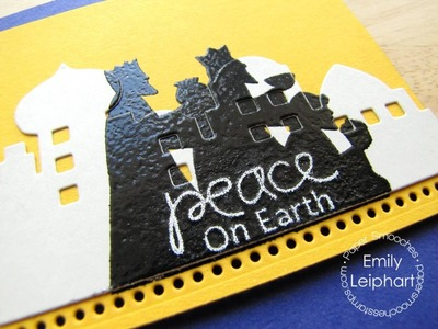 {Paper Smooches} Double Heat Embossing with A Blessed Christmas