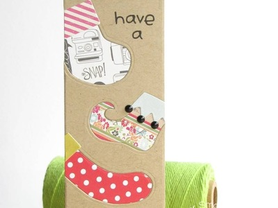 {Paper Smooches} Inlaid Die Cutting with Stockings Dies