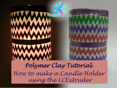 Polymer Clay Tutorial - How to Make a Candle Holder using lcdisk9 - Lesson #17