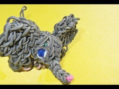 Rainbow Loom 3D Elephant Charm made with Loom Bands (loom animals)