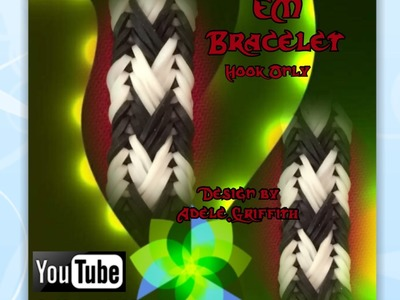 Rainbow Loom Band EM Braid Bracelet Tutorial.How to