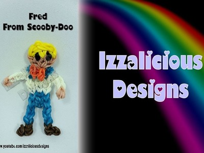 Rainbow Loom Fred from Scooby-Doo Action Figure.Charm - Gomitas
