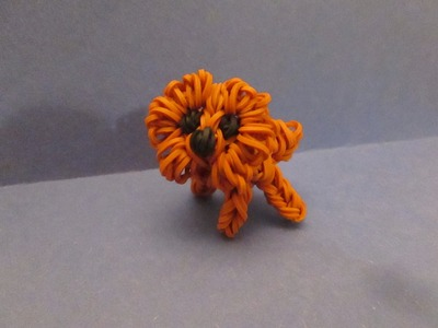 Rainbow Loom Pomeranian Dog or Puppy Charm. 3-D
