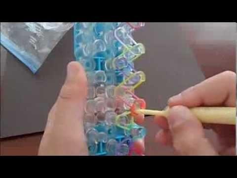 Rainbow Loom Single Pattern Bracelet Tutorial