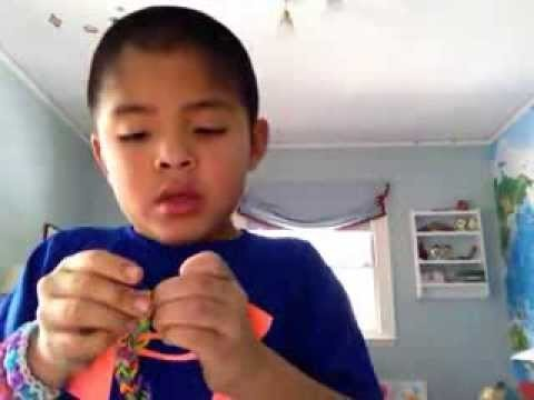 "Rainbow Looms: How to make a ""Sailor's Pinstripe"" with ONLY your fingers!"