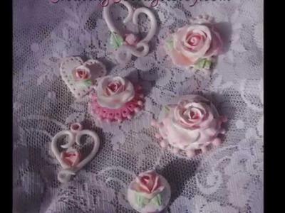 Romantic Shabby Chic Polymer Clay Roses by CreatingCottage