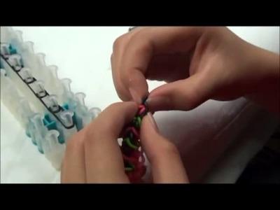 Single Rhombus Rainbow Loom Bracelet Tutorial