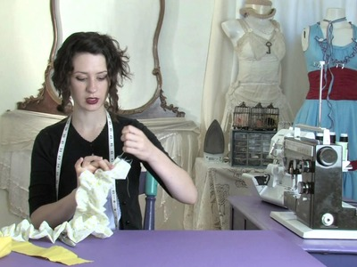 A Tutorial on Sewing a Ruffle Scarf : Sewing Lessons
