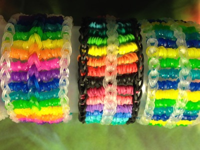 Candy Streamer Bracelet (Part 1) On Rainbow Loom