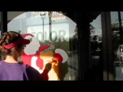 Christmas Holiday Window Painting Santa Part I