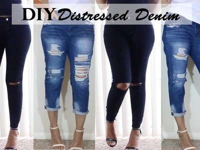 DIY Distressed Jeans | Boyfriend Jeans & Ripped Knee Jeans