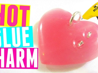 DIY Hot Glue Necklace Pendant | DIY Heart Charm