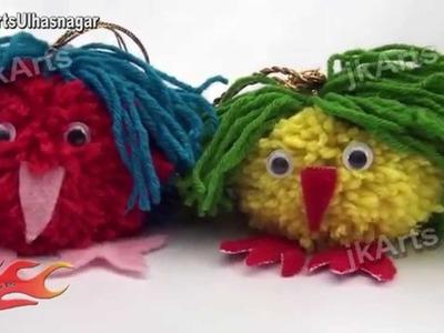 DIY How to make Woolen Pompom Car Hanging - JK Arts 420