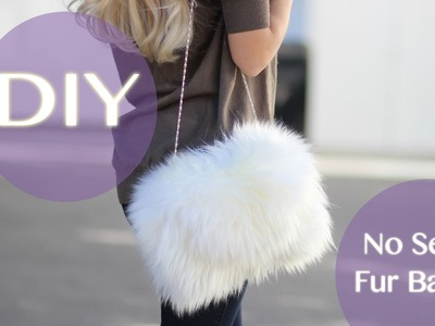DIY No Sew Furry Bag for only $40!