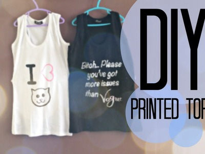 DIY| Printed tops | Recycle | Vogue | Cat