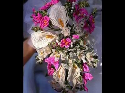 Fiori di perline - Bouquet sposa e acconciatura
