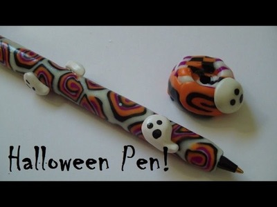 Ghostly Glow In The Dark Polymer Clay Pen Tutorial!