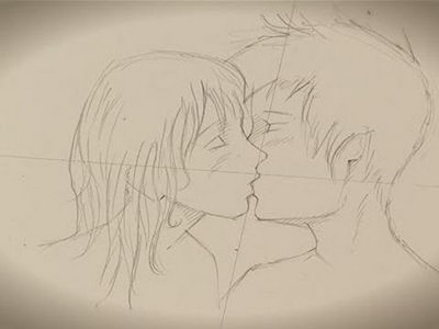 How To Do Drawings Of People Kissing