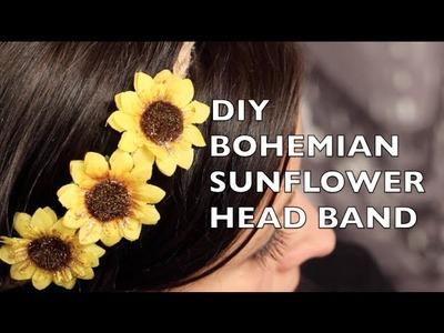 How To Make A Bohemian Sunflower Headband