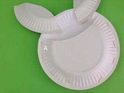 How to make a paper plate bunny basket