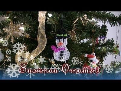 How to make a Rainbow Loom Snowman Ornament. Bracelet