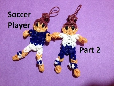 How to Make a Soccer Player on the Rainbow Loom Part 2 - Original Design
