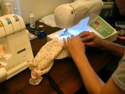 How to make doll dress for Vanessa Valentine Serger Doll