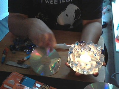 How to make gem stone candle!