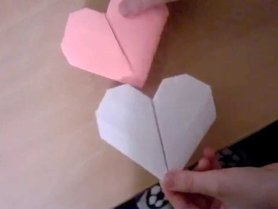 How to make love heart from a4 paper