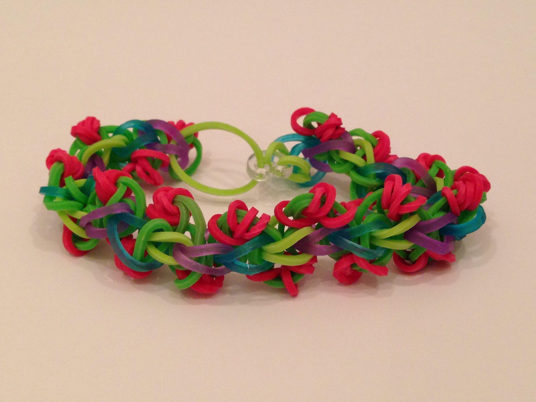 How To Make The Rose Chain Rainbow Loom Bracelet