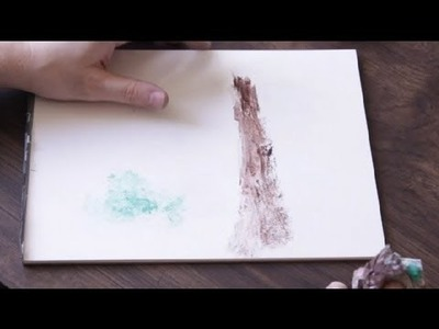 How to Use Crumpled Up Newspaper to Paint With : Drawing & Art