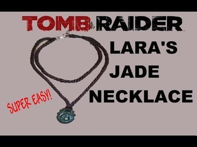 Lara Croft Tomb Raider 2013 Jade pendant. necklace tutorial
