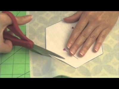 Learn how to make quilted hexie placemats