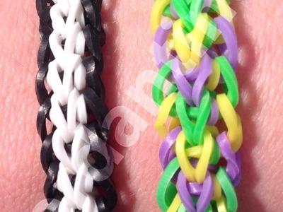 New Crossback Bracelet - Rainbow Loom, Wonder Loom, Monster Tail, Finger Loom