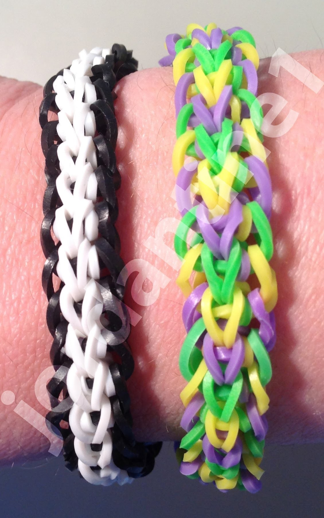 New Crossback Bracelet - Rainbow Loom, Wonder Loom, Monster Tail, Finger Loom