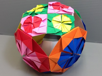 Origami Colorful Medallion Kusudama