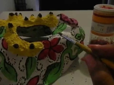 Paper Mache Mask Tutorial using foil mold