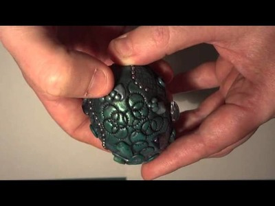 Polymer clay dragon egg inspired by Chris Kapono