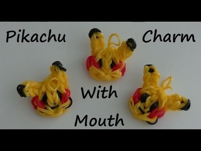 Rainbow Lomm Pikachu Charm With Mouth_How To_DIY-One Loom
